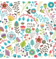 Cute seamless pattern with flowers vector image vector image