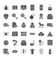 cyber security solid web icons vector image vector image