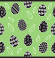 easter seamless background cute outline black and vector image