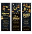 eid mubarak ramadan kareem holiday banners vector image vector image