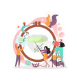 embroidery concept for web banner website vector image