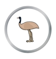 Emu icon in cartoon style isolated on white vector image
