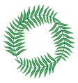exotic and tropical leafs plants circular frame vector image vector image