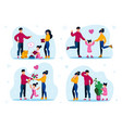 family leisure activities happy childhood vector image vector image