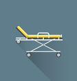 flat medical stretcher on wheels icon vector image vector image