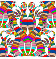 floral colorful ornamental striped seamless vector image