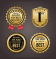 golden badge collection elegant black and vector image vector image
