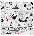 halloween - doodles vector image vector image