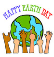 happy earth day style design vector image vector image