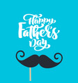 happy fathers day isolated lettering vector image vector image