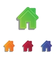 Home silhouette Colorfull applique vector image vector image