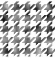 houndstooth wallpaper with square halftone texture vector image