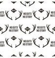 hunting pattern design - no guts no stories quote vector image vector image