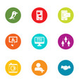 imagery icons set flat style vector image vector image