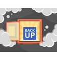 Information recovery and data backup vector image vector image