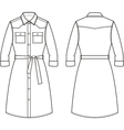 Jean dress Front and back vector image vector image