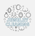 jewelry cleaning round in vector image