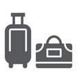 luggage glyph icon travel and baggage suitcase vector image vector image