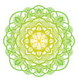 mandala ethnic round ornament hand drawn indian vector image