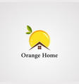orange home logo icon element and template vector image