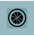 Pale blue basketball sign vector image vector image