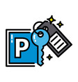 parking black outline icon sharing economy concept vector image