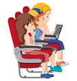 passenger on airplane seat vector image vector image