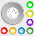 Pizza Icon Symbols on eight flat buttons vector image vector image