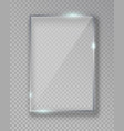 rectangle shiny glass frame isolated on fake vector image vector image