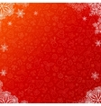 Red ornate Christmas background with snowflakes vector image vector image