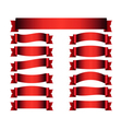 Red ribbon banners set silk vector image vector image