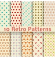 Retro dot seamless patterns tiling vector image vector image