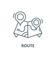 route line icon linear concept outline vector image vector image