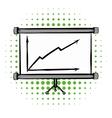 Screen arrow graph board comics icon vector image vector image