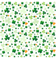 Seamless pattern from clover leaves vector image vector image