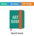 Sketch book icon vector image vector image