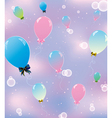 sky pink balls 1 vector image vector image