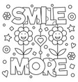 smile more coloring page vector image vector image