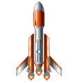 space shuttle launch isolated on white background vector image vector image