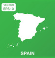 spain map icon business concept spain pictogram vector image