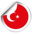 sticker design for turkey flag vector image