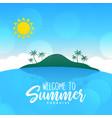 summer beach landscape island sunny scene vector image
