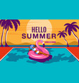 summer holiday poster banner sunshine vector image