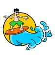 surf symbol vector image
