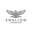 swallow logo icon vector image