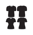 T shirt black template vector image vector image
