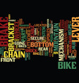 the insides of your mountain bike text background vector image vector image
