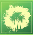 three palm trees on an abstract background vector image vector image