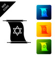 torah scroll icon isolated on white background vector image vector image
