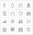 Universal symbols 16 modern line icons file